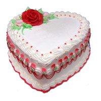 3 Kg Heart Shape Vanilla Cake