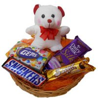 6 Inches Teddy with Chocolate Basket