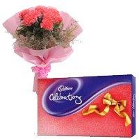 6 Pink Carnation, Cadbury Celebration Pack