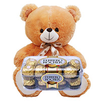Ferrero Rocher Chocolates 16 Pieces with 6 inch Teddy