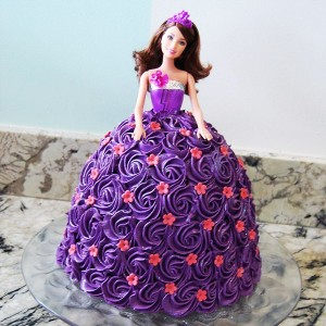 2Kg Barbie Doll Shape Cake