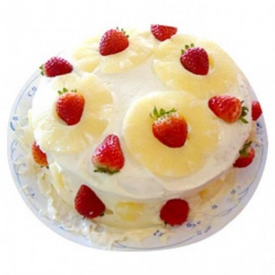 500 gms Pineapple and Strawberry cake