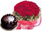 50 Roses & 1 Kg Chocolate Cake