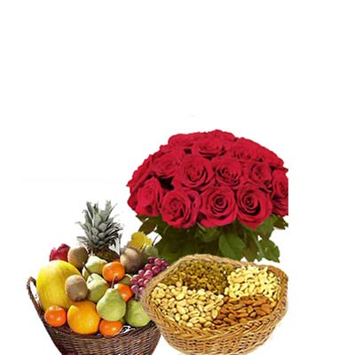 Roses Dry Fruits with Fruits