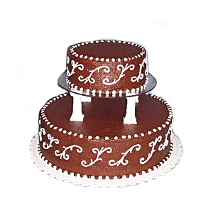 Special Chocolate wedding Cake - 3Kg (On Two Days Prior Order)