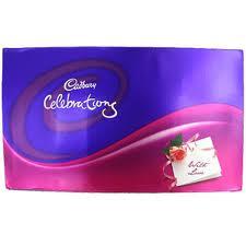 This Pack includes Cadbury dairy milk bars, nutties, gems, five star and crunchy perk