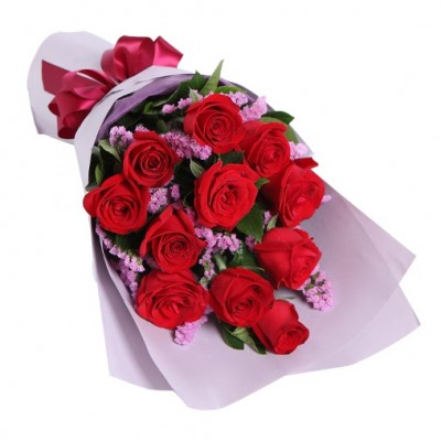 Lovely 12 Red Rose Exclusive Bunch to Make Some One Happy!!