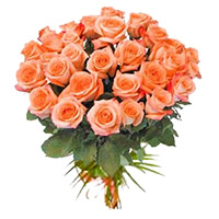 Peach Roses Bouquet 24 Flowers