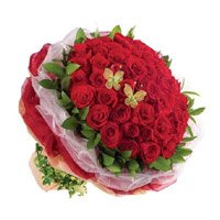 Red Roses Bouquet 50 Flowers