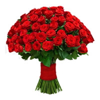 Red Roses Bouquet 75 Flowers