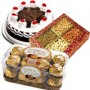 500 gms Black Forest Cake, 500 gms Dry Fruits and 16 pcs Ferrero Rochers