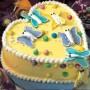 1 Kg Pineapple Heart Shaped Cake