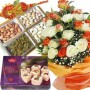 Sweets Dry Fruits Flowers with Rakhi